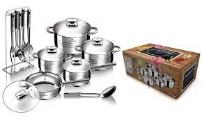 cuisine en batterie de cuisine batterie de cuisine blaumann groupon