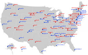 Southeast States And Capitals Map by Most Liberal And Conservative Towns In Each State Business Insider