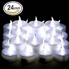 set of 24 flameless floating candles battery operated