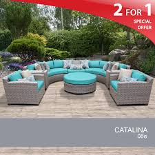 8 piece wicker set outdoor rattan patio furniture