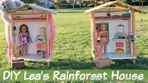 Build A Doll U0027s House by Diy Lea U0027s Rainforest House American Ideas American Ideas
