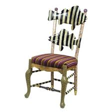 Childs Dining Chair Courtly Stripe Fish Chair From Mackenzie Childs Ltd