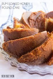 rum soaked honey pound cake bread booze bacon