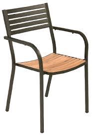 Teak Armchair Segno Teak Armchair Outdoor Indoor Stacking Chair Restaurant