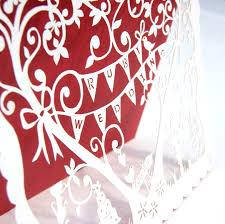 laser cut whimsical ruby wedding invitations hummingbird card
