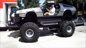 monster truck youtube videos delorean monster truck youtube
