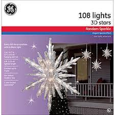 outdoor hanging snowflake lights ge random sparkle 3pc 108ct random sparkle incandescent 10 75 3d
