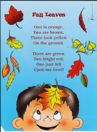 Silly Halloween Poems Fall Harvest Poems For Preschoolers Blog Archive Fall Leaves
