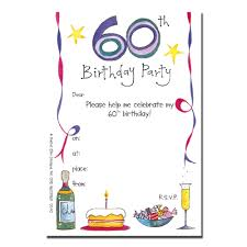 60th Birthday Invitation Card Free Printable Invitations For 60th Birthday Party Drevio