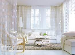 Ikeas Curtains Ikea Ninni Figur Pair Of Curtains 2 Panels White Sheer Circles New