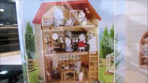 sylvanian families 3 story house review youtube