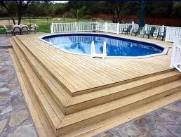 pool in deck in ground pool deck designs agp go above ground pool