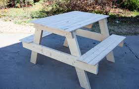 Make Your Own Picnic Table Bench by Outdoor Living Diyz