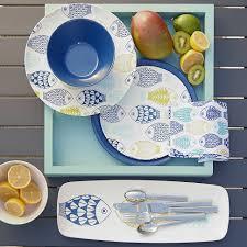 thanksgiving melamine plates fish 8 5