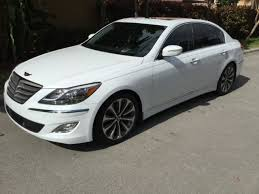 hyundai genesis specifications hyundai genesis 5 0 r spec sedan white one owner fl