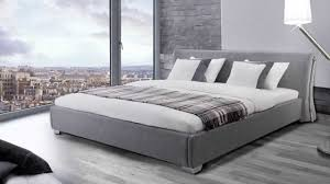 nice looking grey upholstered bed frame narrow genwitch