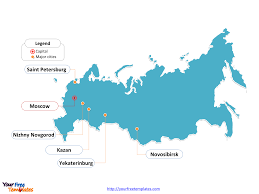 Blank Map Of Eurasia by Free Russia Powerpoint Map Free Powerpoint Templates