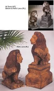 statue lions lions one paw up statue lion statues