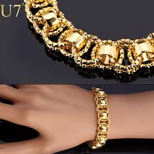 man golden bracelet images Gold bracelet with 18k stamp trendy platinum 18k real gold jpg