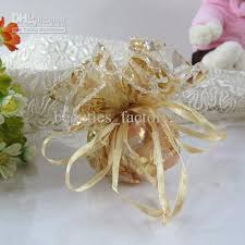 organza favor bags gold organza bag wedding favor party 24cm 32cm