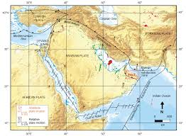 middle east earthquake zone map oman project