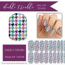 candy crush colorful houndstooth nail art jamberry nail wraps