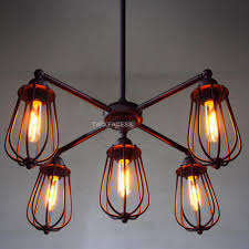 Edison Bulb Pendant Light Fixture by Modern Vintage Industrial Metal Loft Multipoint Pendant Lamp Shade