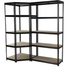 Corner Bookcase Unit 1830 X 730 X 730mm 5 Tier Corner Adjustable Shelving Unit