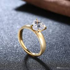 shaped rings images Brand design fashion simple heart shaped ring bride gold jpg