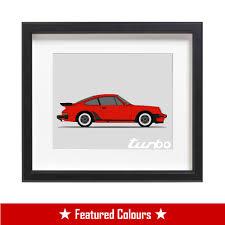 porsche turbo poster porsche 911 930 turbo print side u2013 custom car posters
