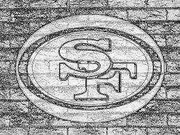 ferrari logo sketch sf 49ers logo on grey brick wall drawing b u0026w 1600x1200 desktop nfl