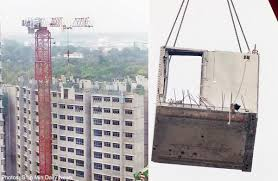 Prefab Construction Worker Hit By Prefab Unit Falls To Death Singapore News Asiaone