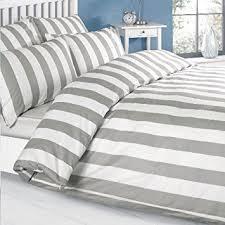 louisiana vertical grey u0026 white stripe duvet cover set bedding 100