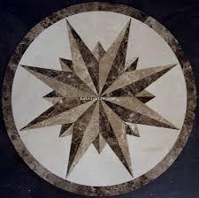 large compass floor medallion decorative floor tile designs