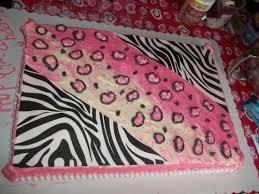 zebra print birthday and sheet cakes on pinterest kitty w cheetah