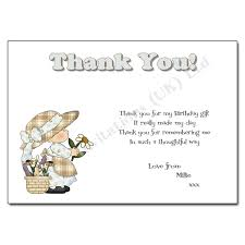 birthday thank you card thank you note birthday thank you note