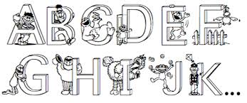 street alphabet coloring pages