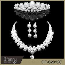 pearl necklace wedding set images Wedding pearl jewelry set bridal heavy indian necklace jewelry set jpg