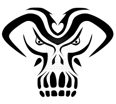 tribal demon mask tattoo sample in 2017 real photo pictures