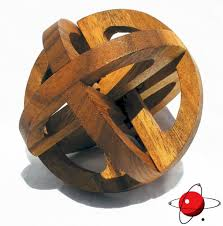 galaxy sphere wood puzzle brain teaser wooden new 3d mind bender