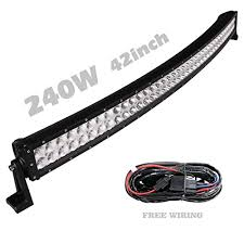 Solidex 240w 42inch Curved Led Light Bar 30 Degree Spot 60 Degree