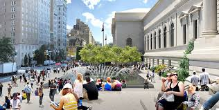 olin unveils plans for a new public plaza for the metropolitan