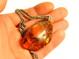 amber stone necklace images Baltic amber stone old vintage retro antique necklace pendant jpg