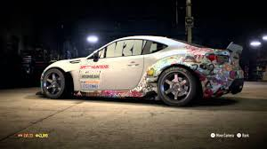 hoonigan stickers on cars need for speed 2015 rocket bunny stickerbomb brz youtube