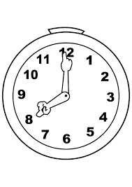 cute silly analog clock coloring pages bulk color