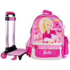 aliexpress buy barbie cartoon trolley wheels bag
