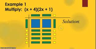 multiplying binomials using algebra tiles youtube
