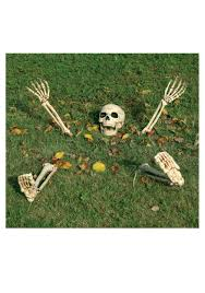 posable halloween skeleton 5 piece buried alive skeleton kit
