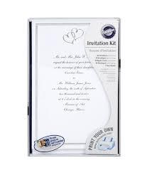 wilton wedding invitations wilton wedding invitation kit sweet hearts silver invitation