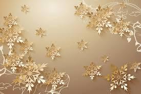 golden snowflakes 3d room wallpaper beautiful bedroom wallpaper